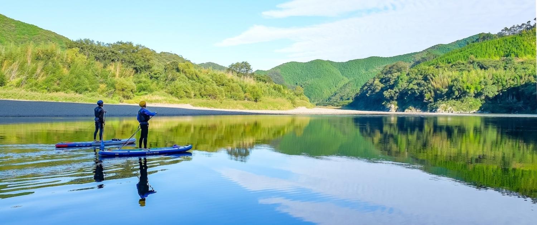 shimanto gawa sup canoe kayak
